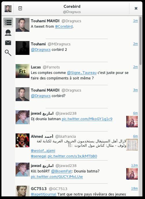 Corebird twitter client
