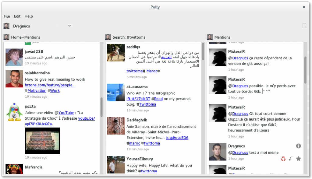 Polly twitter client